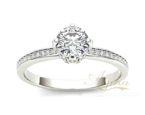 Manufacture Price High Quality Silver Halo Diamond Engagement Rings