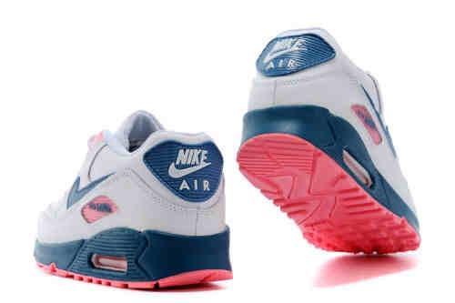 Best Womens Nike Air Max 90 Premium DarkBlue Pink Shoes,sport nike running shoes