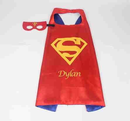 Superman cape & mask