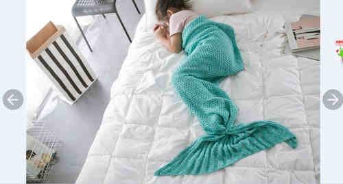 Mermaid blanket basic style for child
