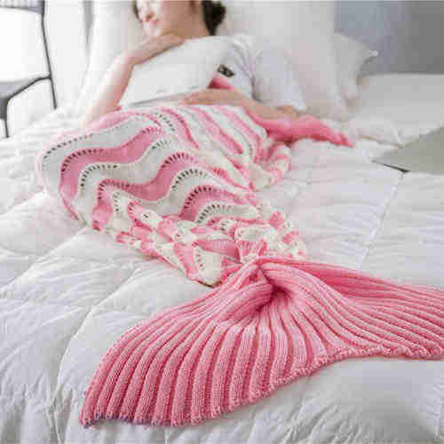 Mermaid blanket wave style for adult