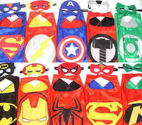 Superman cape & mask