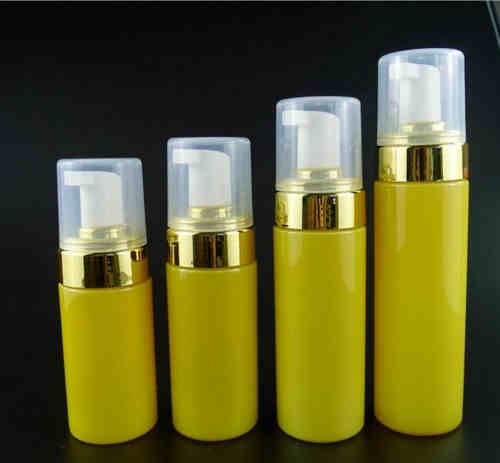 Gold neck foam pump bottles