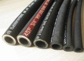Hydraulic rubber oil hose