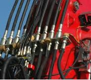 Hydraulic hose for agricultural machinery.