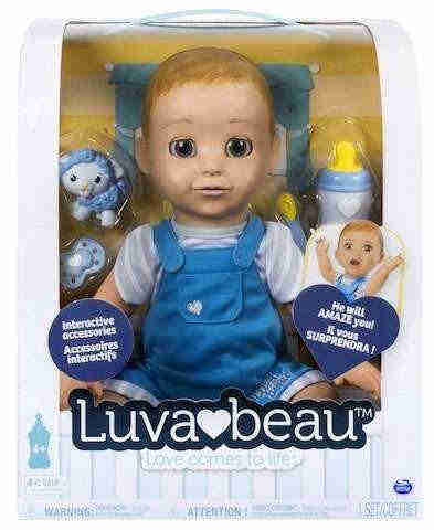 Spinmaster Luvabella - Blonde Hair - Responsive Baby Doll with Realistic Expressions and Movement