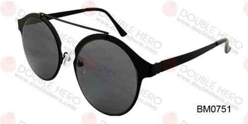 Metal Plate Brass Sunglasses - BM0751