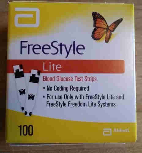 Freestyle Lite Diabetes Test Strips 100 count exp date. 2019