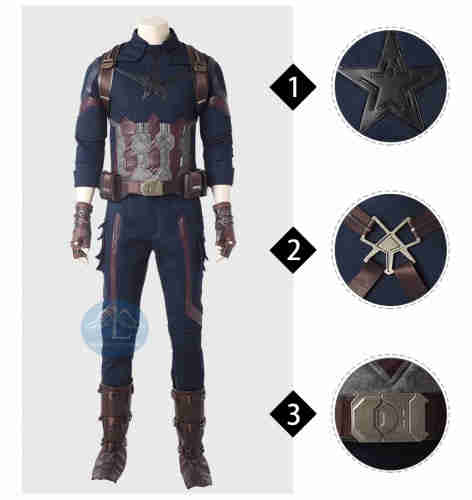 MANLUYUNXIAO Avengers Infinity War Captain America high quality cosplay costume for comic con outfit