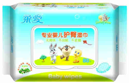 Plastic Wet tissue bag disposable side gusset Bag/Baby Tissue paper packing plastic bags