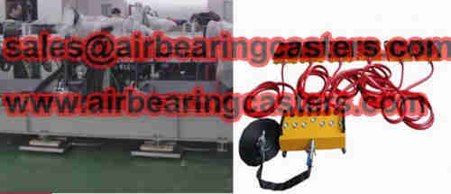 Air caster rigging system is a new type of tool for moving machine