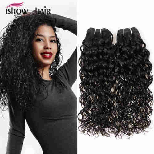 Brazilian human virgin hair weft  water wave style