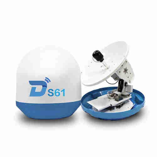 Ditel S61 63cm 3-axis ku band digital outdoor marine tv antenna satellite dish antenna