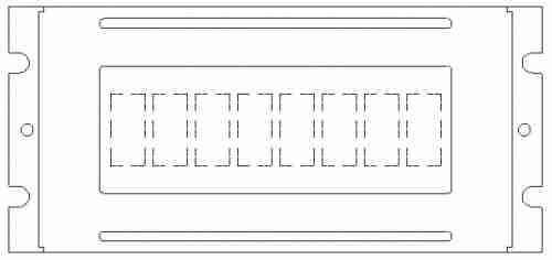 Monochrome LCM Character Type - PLC0801CW