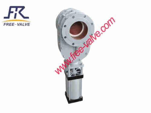 Anti wear Pneumatic ceramic Double Disc Balance gate valve  for fly ash system