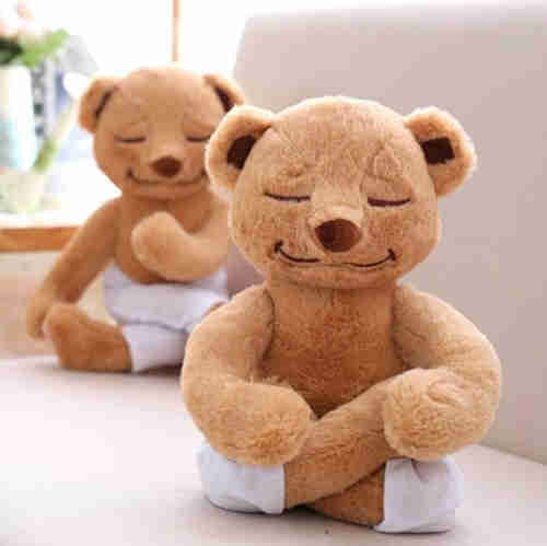 Yoga bear stuffed animal