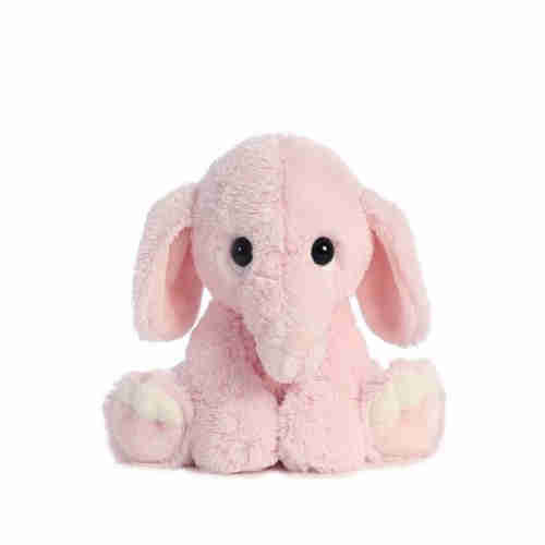 Big ear sitting cute little elephant plush toy