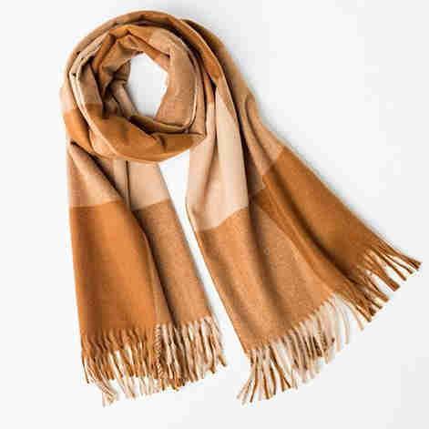Print wool scarf supplier