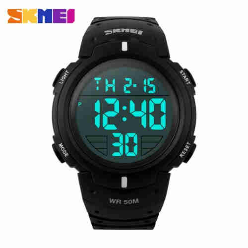 Original Brand Skmei Watch Waterproof 3 Time Zone Digital Sports Watch for Men