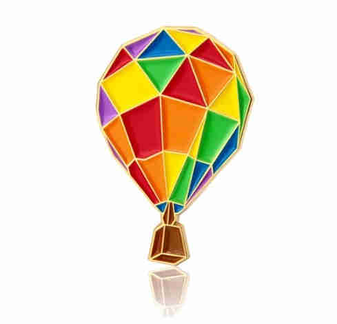 GS-JJ Hot Air Balloon Shirt Pins