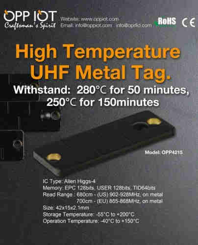 High-temperature UHF Metal Tag