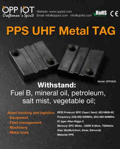 PPS UHF Metal Tag OPP2626