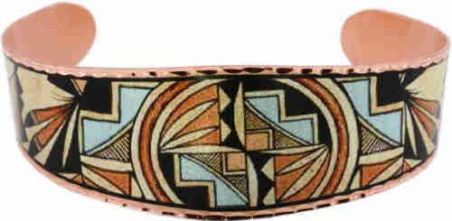 Cut out copper bracelet handmade